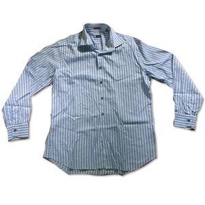 Paul Smith London Blue Striped Dress Shirt